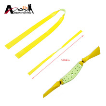 1pcs Slingshot Rubber Band Flat Elastic Cord Strap Resilient Tube For Outdoor CS Wargam Hunting Yellow