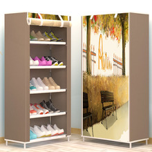 Six Layers DIY Assembly Non-woven Cloth Storage Shoe Cabinet Dustproof Shoe Rack Space Saver Shoe Organizer Shelf Home Furniture(China)