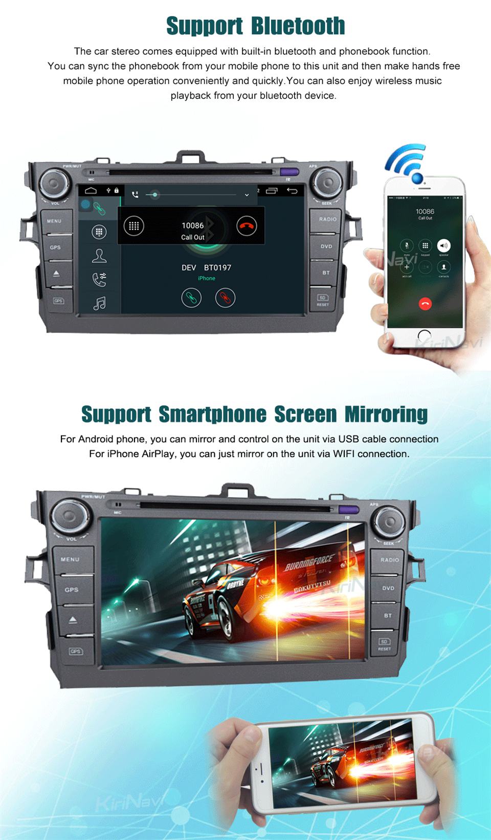 touch screen radio for toyota corolla car dvd player (5)
