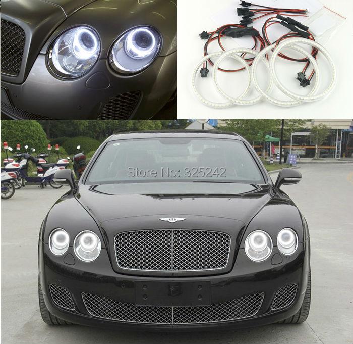 For Bentley Flying Spur 2005-2012 Excellent smd led Angel Eyes Ultra bright 3528 SMD led Angel Eyes Halo Ring kit<br><br>Aliexpress