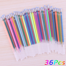 12, 24, 36, 48 Colors A Set Flash Ballpoint Gel Pen Highlighters Refill Color Full Shinning Refills Painting Ball Point Pen(China)