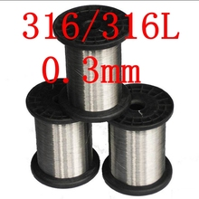 0.3mm,316/316L Soft Stainless Steel  Wire,30 gauge/0.3mm SS Seaworthy Thread