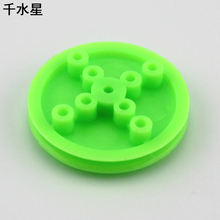 2 * 30mm pulley small pulley diy motor wheel can be set silicone rubber pulley plastic model wheel drive wheel(China)
