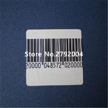 20000pcs/lot EAS soft label 40*40mm, RF 8.2mhz, RF soft label, EAS sticker(China)
