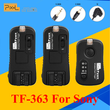 Pixel TF-363 Wireless Remote Control Shutter Release Flash Trigger 1 X Transmitter & 2 X Receivers For Sony A33 A55 A57 A77(China)