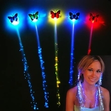10PCS/LOT Wholesale Luminous Light Up LED Hair Party Decoration Flash Braid Hair Glow Event Party Supplies