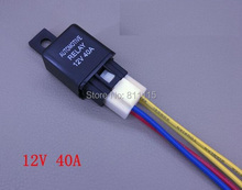 Automotive Relay 12V 40A, with Tail Lines, Universal Car Relay, DC Relay, Free Shipping