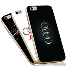 Soft Silicone Phone Case for iPhone 7 4 4s 5 5s 6 6s plus 4.7 5.5 inch Mazda Audi VW Honda Car Logo Cover