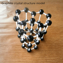 Chemical crystal structure model Graphite crystalline structural model plumbago crystals structure model free shipping(China)
