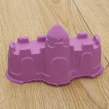 6Pcs/Set Portable Castle Sand Clay Novelty Beach Toys Model Clay For Moving Magic Sand Toys Gift