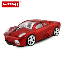 CHYI Racing Car Shaped Mouse Wireless Optical USB Mause 1600DPI Mini Computer Gaming Mice with LED Flashing Light for PC Laptop(China)