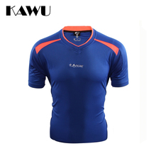 KAWU custom made soccer jerseys 2017 sport running t shirt Quick-drying clothes short sleeve sportwear camisas de futebol C17009(China)