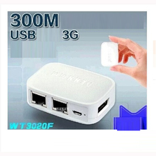 WT3020F 3G wireless storage router portable usb port 300M mini file sharing router routing 300Mbp transmission rate wireless(China)