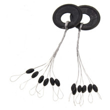 100pcs/lot Fishing Rubber Float Bobber Stops Pitch Sinker Small available Black Fishing Tackle Box Accessory tool(China)