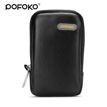 POFOKO 2.5 inch hdd case bag PU leather waterproof 2.5 hdd case camera charger cord earphone power bank holder case bag(China)