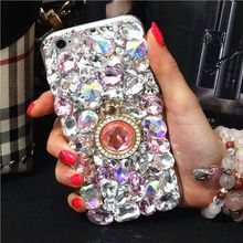Buy crystal Diamond Case coque iPhone 7 plus Bling Rhinestone Glitter Cover iPhone 6 6s plus 5 5s SE 5c 4 4s Capa fundas for $7.90 in AliExpress store