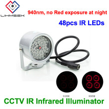 Lihmsek No Red exposure Miniature Dome Type Invisible illuminator 940nm IR infrared 48 LEDs IR Lights for CCTV Security Camera(China)