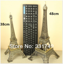 48cm (Height) Restore Bronze Paris Eiffel Tower Statue Metal Figurines Home & Bookshelf Decoration Favors