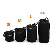 Hot Universal Matin Neoprene Waterproof Soft Video Camera Lens Pouch Bag Case Full Size S M L XL For Canon Nikon Sony Wholesale