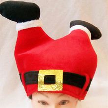 1pc Christmas Hat Red Santa Claus Pants Hats for Adult and Children Decoration for 2017 New Year's Gifts Home Party(China)
