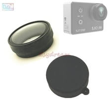 Glass UV Filter Protection Silicone Rubber Lens Cap Anti Scratch Protector Cover for SJCAM SJ7 Star Action Camera Accessories