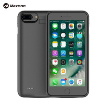 MAXNON Battery Charger Case for iPhone 7 Plus High capacity 4000mah Ultra Thin Rechargeable Power Bank Backup Pack Case(China)
