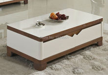 Modern Coffee Table Cam Sehpalar Muebles Mesas Real Mirrored Furniture Led Bar Wooden Coffee With Desktop New Model Tea 869