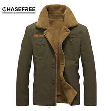 Winter Bomber Jacket Men Air Force Pilot MA1 Jacket Outerwear Cotton Thick Fur Collar Warm Military Tactical Mens Jacket Coat(China)