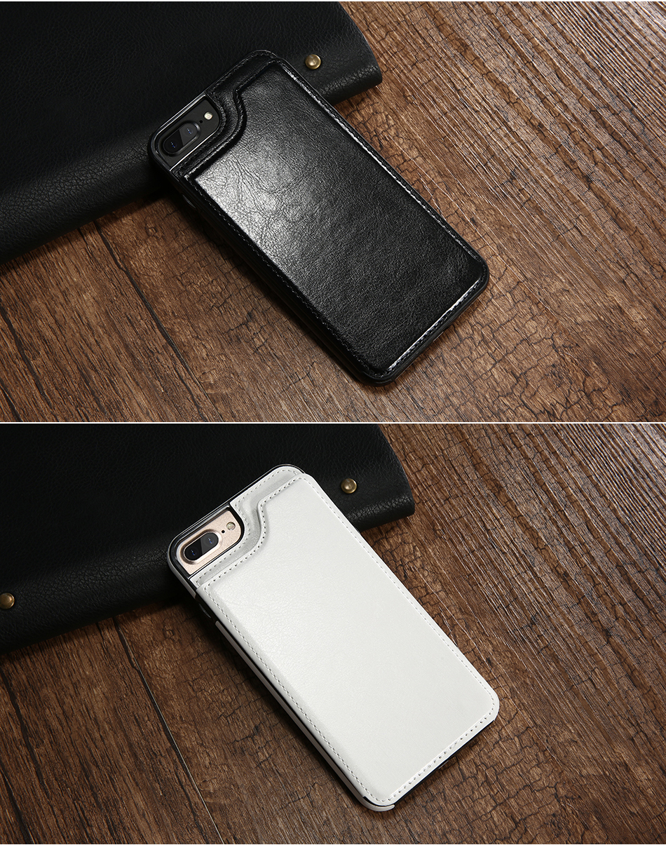 FLOVEME Luxury Wallet Case For iPhone 6 6S Bracket Type Leather Card Holder Kickstand Flip Back Cover For iPhone 7 7 Plus 6 Plus_10