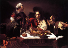 100 %hand-painted famous artists painting reproduction by Caravaggio handmade canvas oil painting Supper-at-Emmaus