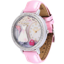 Elegant Fashion Women Delicate Crystals Watches Handmade Clay White Dresses Wrist watch Real Leather Timepiece Quartz Reloj S043