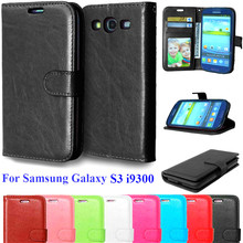 Cover For Samsung Galaxy S3 Luxury PU Leather Flip Case For Samsung Galaxy S3 I9300 Neo i9301 Duos i9300i Vertical Phone Cases(China)
