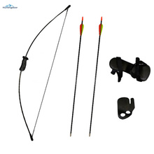 Archery Training Kids Bow Longbow Children Junior Gift Toy Outdoor Game Christmas Gifts 10lbs Bow and Arrows Set