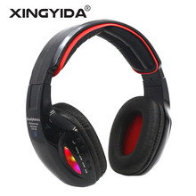 XINGYIDA Bluetooth Headphones Glowing Wireless Stereo Headset with Microphone Support TF Card FM Radio LED for iPhone Samsung PC