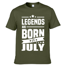 Legends Are Born In July Funny Birthday Dad Gift Fashion Men's T Shirt Cool Tops Cotton O-Neck Short Sleeve Tees(China)