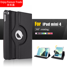 Case For Apple iPad Mini 4 360 Rotating Smart Cover for iPad Mini4 Tablet case PU Leather Protect Case Protective Cover
