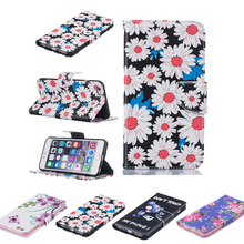 New PU Leather Wallet Book Flip Stand Mobile Case Shell For Apple iPhone 5 5S SE 6 6S 6 6S Plus 7 Itouch 6 Protector Bag Shell(China)
