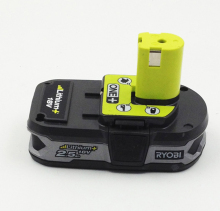Ryobi 18 Volt RB18L25 18V 2500mah One Plus Lithium Ion Rechargeable Battery Used for P117 P234 P260 P542 P523 P2006(China)