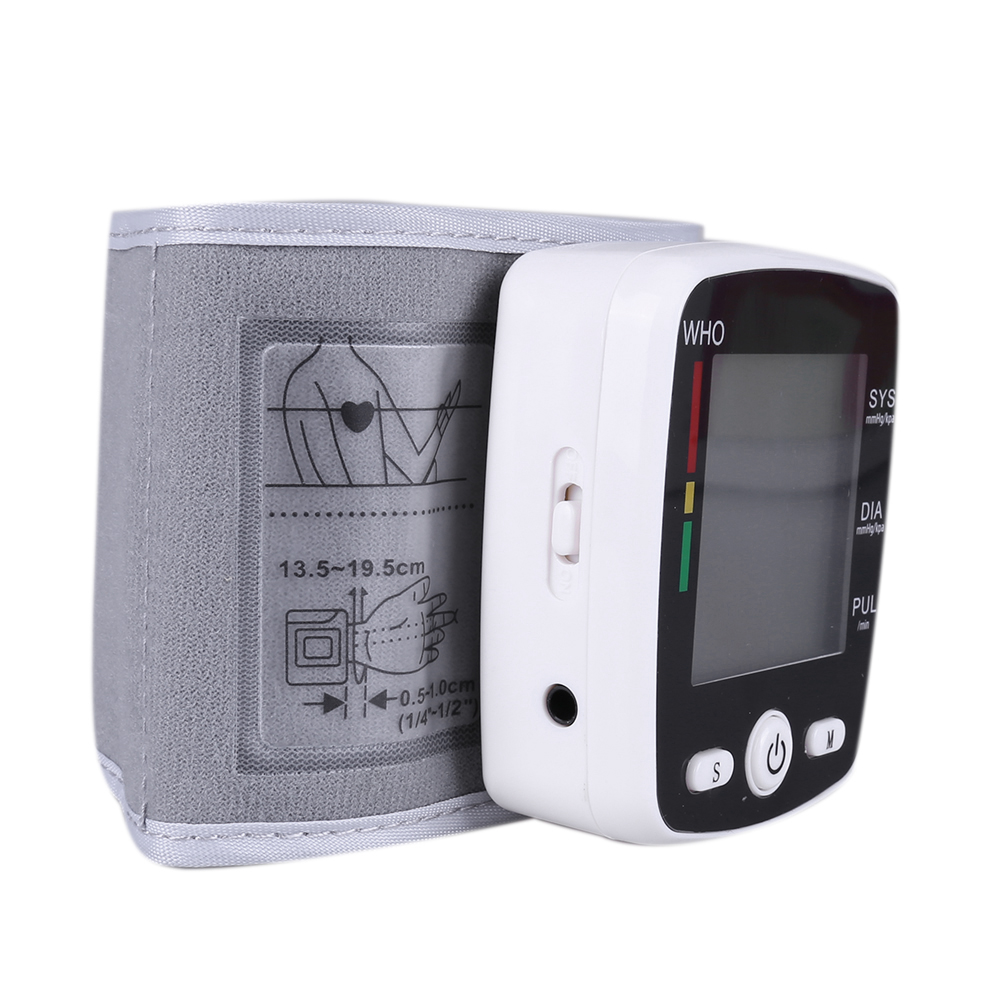Portable Intelligent Digital Automatic Wrist Blood Pressure Monitor LCD Display Household Health Care Blood Monitors 21