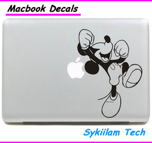 Cheerful Mickey Mouse for apple Sticker Macbook Skin Air 11 12 13 Pro 13 15 17 Retina Decal Loptop Wall Car Vinyl Logo Case