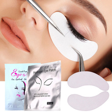 100pairs/lot Disposable Eye Pads Eyelash Extension Patches Under Eye Lint-free Eye Tips Sticker Wraps Purple Silver Make Up Tool