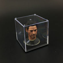 1:6 Scale Transparent Headplay Display Case Dust Cover Box Holder Head Carving Accessories