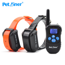 Petainer 998DBB-2 Collar Dog Shock Collar 300M Control Waterproof And Rechargeable Dog Electric Collar For 2 Dogs(China)