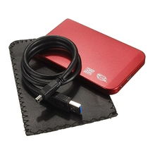 "SATA USB 3.0 SATA 2.5"" HD HDD Hard Disk Drive Enclosure External Case Box Red"