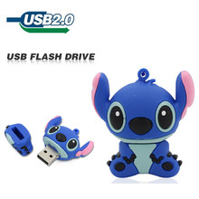 New fashion USB Flash Drive 64GB 32GB 16GB 8GB 4GB 2GB cartoon Stitch Pen drive flash card Memory stick lovely U Disk pendrive