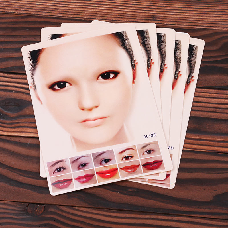5pcs Tattoo 3D lips Practice Skin Best Price Tattoo Practice Skin for Llips and Eyebrow Tattoo Supply MUA732(China)