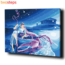 TwoSteps DIY Digital Canvas Oil Painting By Numbers Pictures Coloring By Numbers Modern Acrylic Paint By Number Kits Cancer(China)