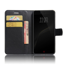Litchi Texture Flip Leather Cover Case for ZTE Nubia Z11 Mini S 5.2 inch Wallet Style Magnetic Phone Case With Stand Function