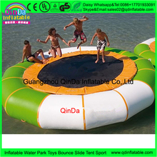 4m factory directly selling inflatable air sea trampoline,inflatable trampoline from china,water jumping bed