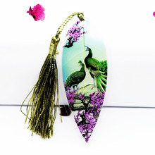 1Pcs Cute Classical Elegance Tassel Bookmark Chinese Wind Natural Collectibles Leaves Bookmarks for Book Stationery Gift